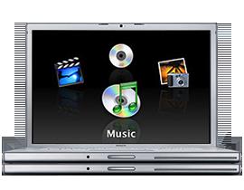 MacBook Pro running Front Row